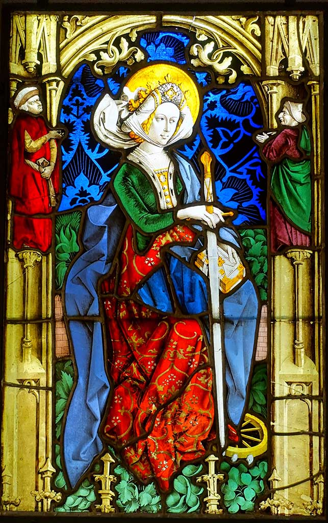 Peter Hemmel, Stained glass depicting Saint Catherine, c. 1475-1480, 70.5-71 x 45.5 cm © Hessisches Landesmuseum Darmstadt